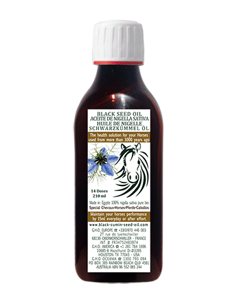 210 black seed oil for horses 1btl